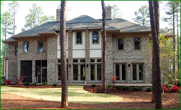 A new two story Pinehurst home.